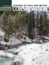 Journal of Soil and Water Conservation: 70 (1)