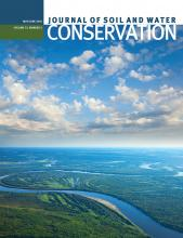 Journal of Soil and Water Conservation: 73 (3)