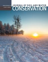 Journal of Soil and Water Conservation: 74 (1)